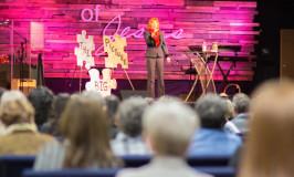Brandilyn Collins, keynote address at INWCW conference 2014
